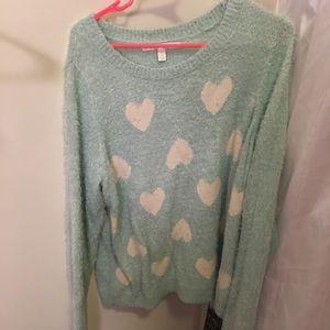 Lauren Conrad Fuzzy Heart Sweater